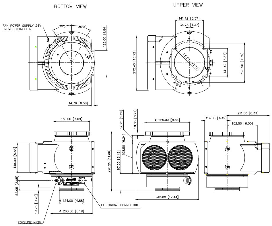 Agilent TV801 Exchange / Varian TV801 SCIEX Turbo Pump, DN