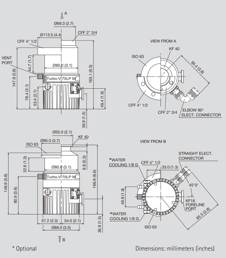 Varian TV 70LP Turbo Pump, DN 63 CF, 9699366, V70LP