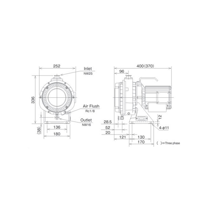 New Anest Iwata ISP 250C Dry Scroll Vacuum Pump, Vertical