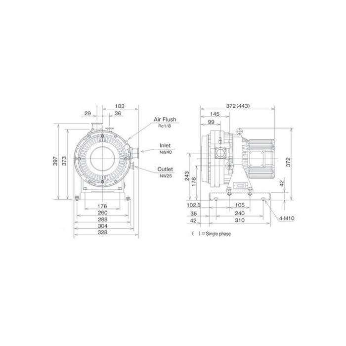 Anest Iwata ISP-500C Dry Scroll Vacuum Pump, Vertical