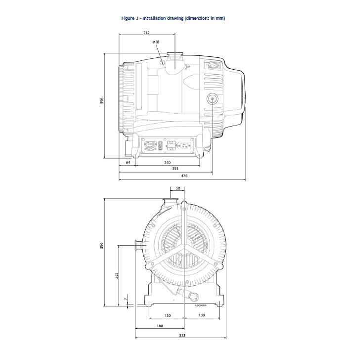 Fully Refurbished Edwards XDS35i Scroll Vacuum Pump Dry