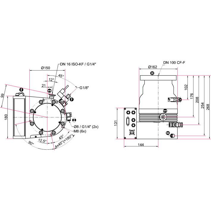 Pfeiffer Vacuum HiPace 300 M Turbo Pump with TM 700