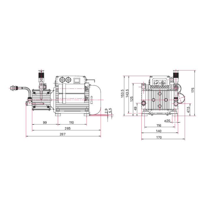 Pfeiffer Vacuum MVP 020-3 AC Diaphragm Pump, 100-120/200