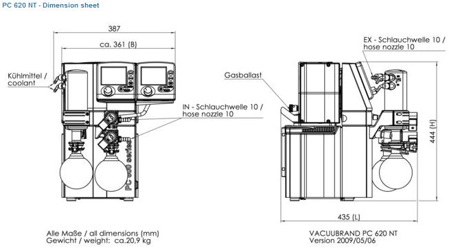 Vacuubrand PC 520 NT Chemistry Diaphragm Pumping unit, 1.2