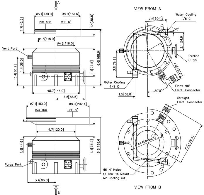 Agilent Technologies / Varian V 300HT Turbo Pump, ISO 100