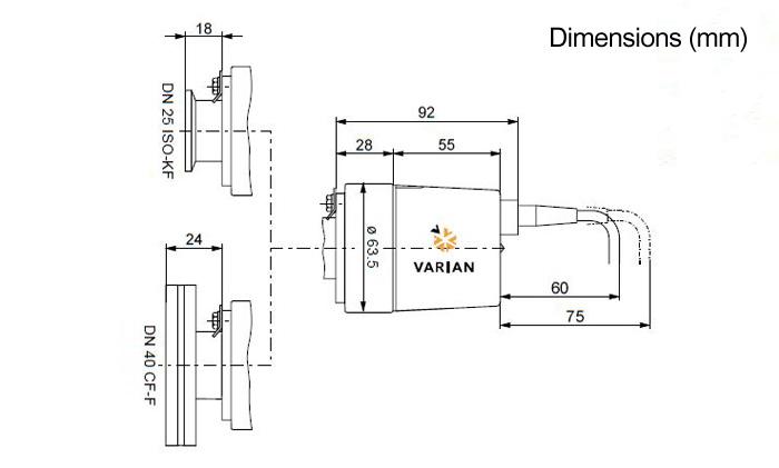 Agilent FRG 700 Full Range Pirani IMG Vacuum Gauge