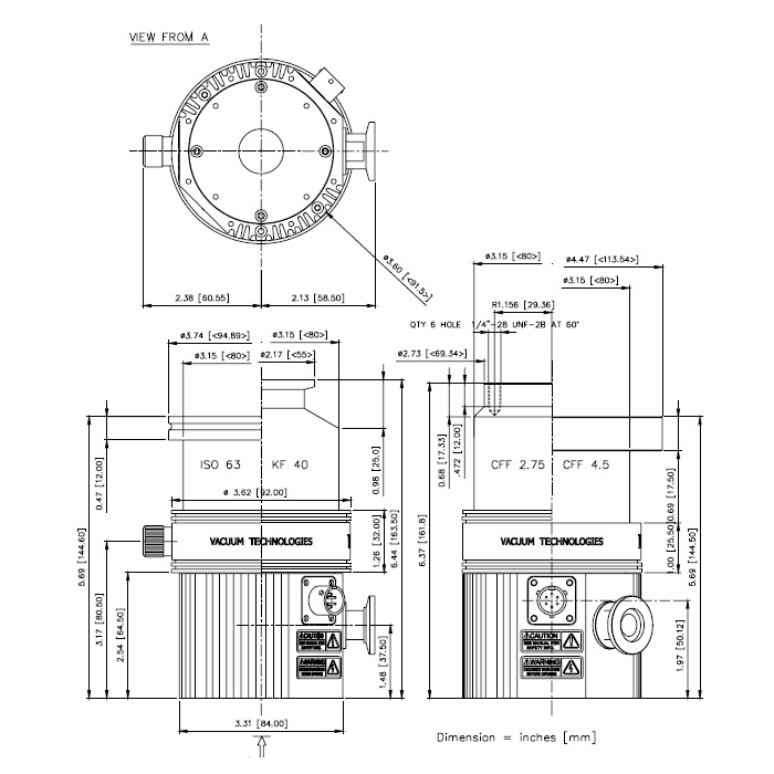 Agilent TV81M Turbo Pump, 969-8901 Varian V81, 9698901