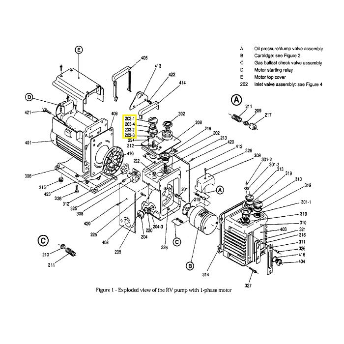 Edwards Gas Ballast Control Assembly for RV3, RV5, RV8