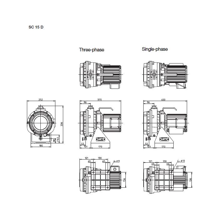 Leybold SC 15 D Scroll Dry Vacuum Pump 200/230 V AC 50/60