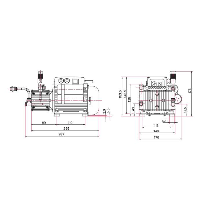 Pfeiffer Vacuum MVP 015-2 Diaphragm Vacuum Pump, 90-127