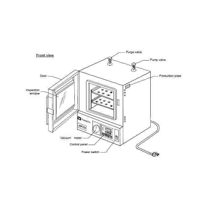 Yamato ADP-310C Vacuum Oven, Programmable, 1 Cubic Foot