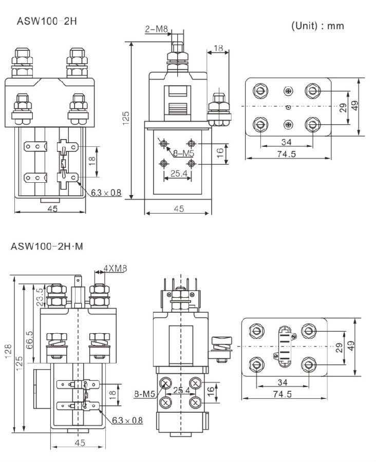 2-Phase Double Coils Latching Contact Relay Factory