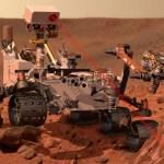 الروبوط كوريوسيتي يتعرف على اول حجر على المريخ