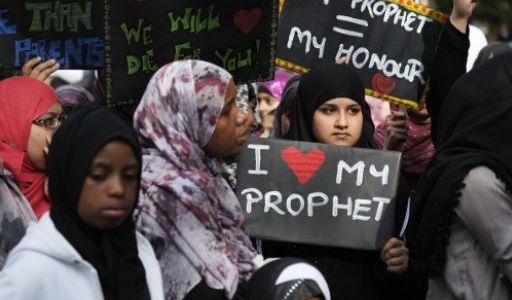 مئات المسلمين يتظاهرون في مدن اوروبية احتجاجا على الفيلم المسيء للاسلام