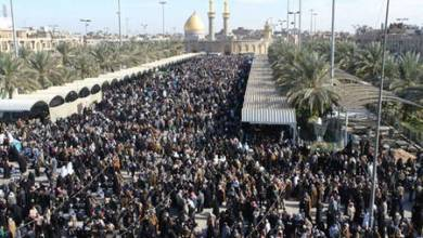 صورة كربلاء : توافد مئات الآلاف من الزائرين في يوم عرفة