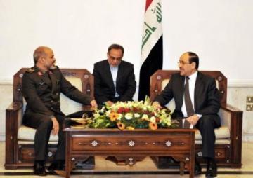 المالكي وخلال استقباله وزير الدفاع الايراني يؤكد على ضرورة التعاون بين البلدين لمكافحة الارهاب
