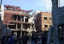 صورة نزوح نصف الاجئين الفلسطينين من مخيم اليرموك بدمشق