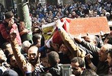 صورة اشتباك بين الشرطة ومتظاهرين شمال مصر