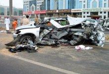 صورة مصرع 22 عاملا اسيويا في حادث سير في الامارات