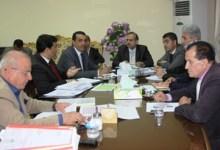 صورة اجتماع مشترك لادارة ومجلس محافظة كركوك لإعداد خطة مشاريع 2013
