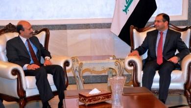 صورة رئيس مجلس النواب العراقي يوجة دعوة رسمية لرئيس البرلمان الباكستاني لزيارة العراق