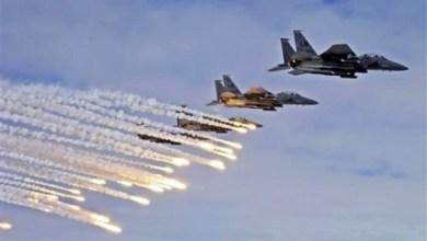 صورة الطيران السعودي يهاجم مواقع عسكرية للحوثين في صنعاء