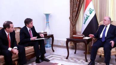 صورة العبادي يبحث مع الخارجية الامريكية الحرب ضد داعش