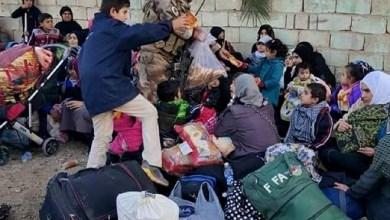 صورة الفرقة الذهبية تخلي 800 مدني في الرمادي