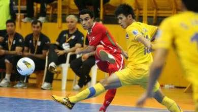 صورة انتخاب الدولي الايراني حسن زادة افضل لاعب في كرة الصالات اسيويا
