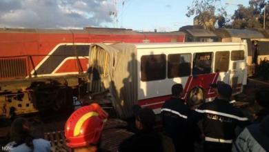 صورة قتلى باصطدام حافلة وقطار في تونس