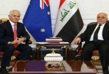 صورة العبادي ورئيس الوزراء الاسترالي يبحثان تعزيز التعاون الثنائي بين البلدين