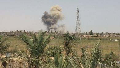 صورة تدمير معمل لتفخيخ العجلات غرب الانبار