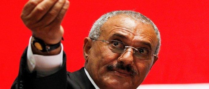 """اخر ظهور لرئيس الراحل علي عبد الله صالح  في منزلة  """"بالفيديو """""""