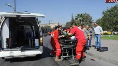 صورة وقوع ضحايا مدنيين بسقوط قذائف على أحياء دمشق