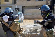 صورة دخول مفتشيو الكيمياوي إلى دوما وسط تشكيك أميركي