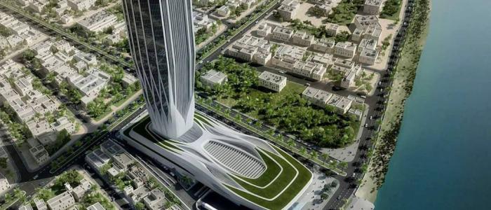 مبنى البنك المركزي الجديد ،اعلى برج تحت الإنشاء في العراق .