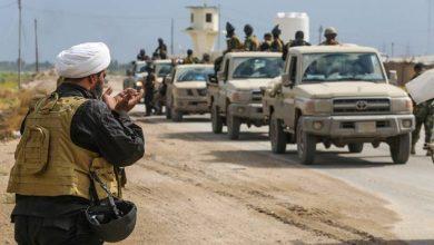 صورة قصف دولي على قطعات تابعة للحشد الشعبي على الحدود السورية العراقية والبنتاغون يعلق