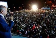 صورة أردوغان يؤدي اليمين لولاية رئاسية جديدة