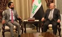 العبادي يلتقي الحلبوسي ويدعوه إلى الإسراع بتشريع القوانين الداعمة لاعمار العراق .