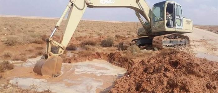 خطة لتفادي السيول على طريق القطعات العسكرية في الأنبار