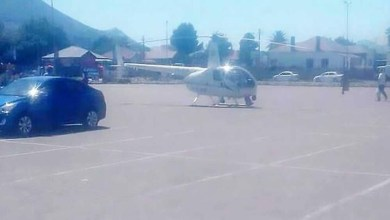 """صورة بسبب الجوع هبط بمروحية لطلب """"ساندويش"""""""