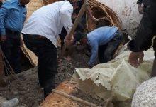 صورة وفاة طفل وانقاذ سيدة بحادث انهيار منزل شرق الناصرية