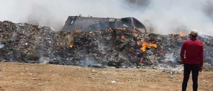 وفاة ثلاث عمال من بلدية الديوانية حرقاً داخل منطقة الطمر الصحي