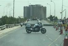 صورة قطع طريق محمد القاسم وسط العاصمة