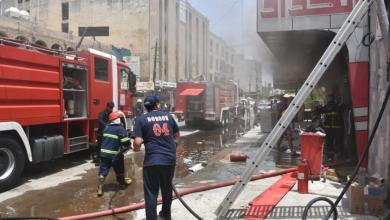 صورة فرق الدفاع المدني تسيطرعلى حريق اندلع في الكرادة (صور)