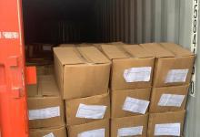 صورة ضبط حاويتين تحتويان على مواد يمنع استيرادها في منفذ ميناء أم قصر