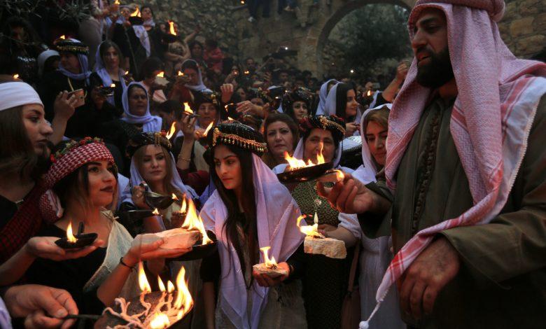 صورة الايزيديون في بغداد بلا معابد لممارسة طقوسهم الدينية