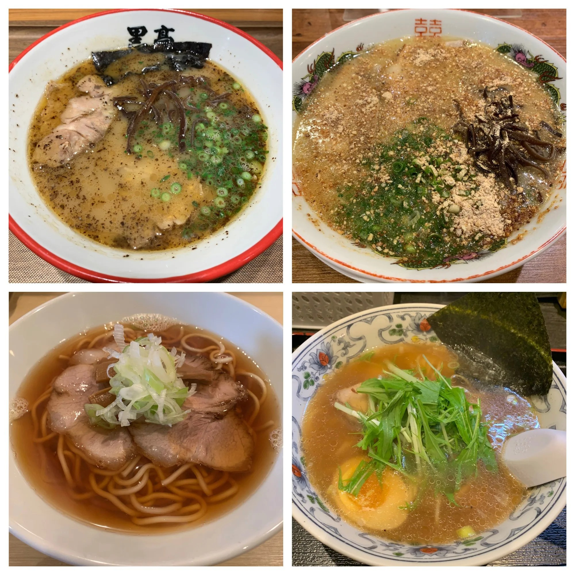 熊本ラーメン食べ比べ実食レポート(定番とんこつの老舗から人気の煮干しラーメンまで)