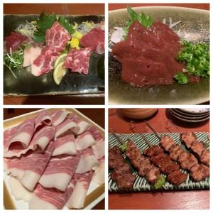 【熊本グルメ】菅乃屋銀座通り店(特に馬刺しが美味しい馬肉料理専門店)