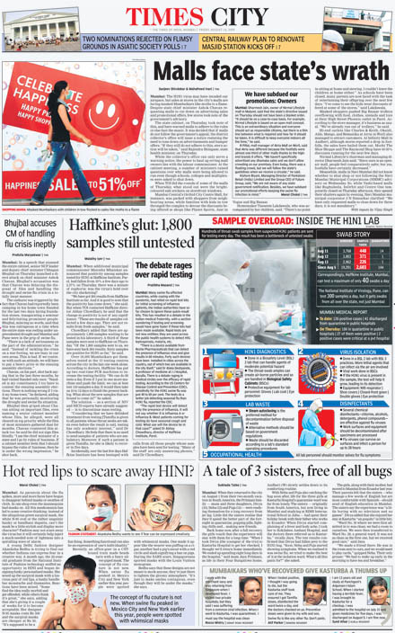 2nd page of Mumbai TOI - Complete Page
